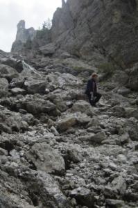 Al Descending the Val De Mesdi, Note the steepness of the path