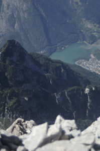 Lake Alleghe from just beneath the summit of Civetta