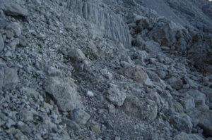 steep scree slope