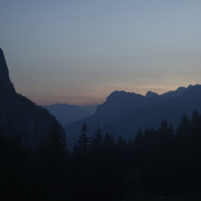 Dusk During the descent