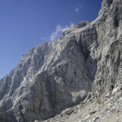 Coming up to the start of the Via Ferrata