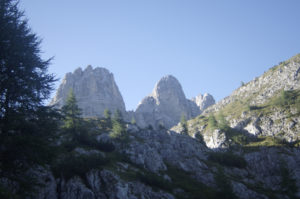 Peaks of Mont Civetta in the Distance