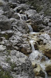 Waterfall along the Val de Mesdi