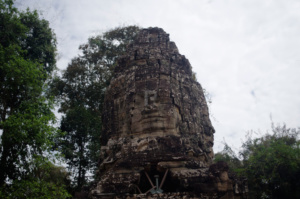 Faces overlooking the east Gopura