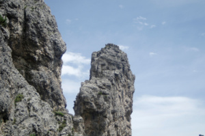 The pointy spires from underneath