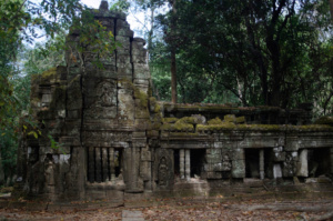 building on the outside of Ta Prohm