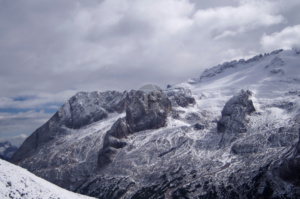 A great view of the left hand side of Marmolada, looking as dramatic as ever