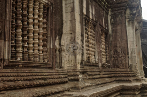 Intricately Carved Columns