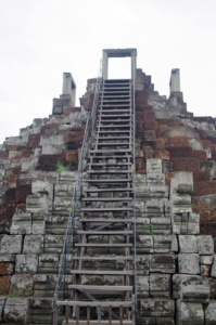 The steps leading up to the very uppermost level of the Baphuon,