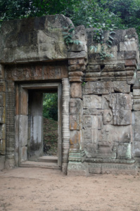 Doorway leading onwards through the outer enclosure wall of the Baphuon