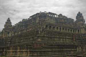The Baphuon from a diagonal below