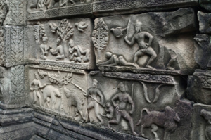 Exquisite carvings in the Baphuon