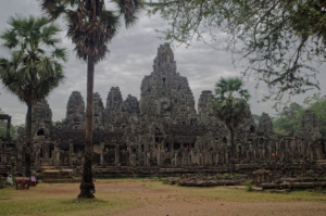 My first full view of Bayon temple. Taken from the Tuk-tuk as we drove past,