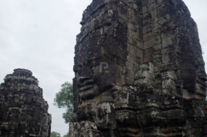 Yet another Lokesvara face seen up close at Bayon temple