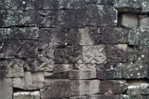 Some of the many intricate carvings found on the Bayon temple