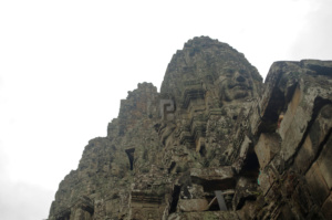 Tower from outside and below the Bayon